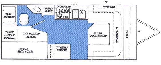 RoadRunner 210 floor plan